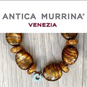 Antica Murrina- Gold Fleck Glass Bead Bracelet